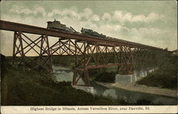 Highest Bridge in Illinois Across the Vermilion River