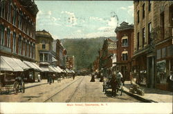 Looking Up Main Street Postcard