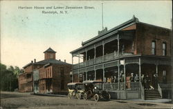 Harrison House and Lower Jamestown Street Postcard