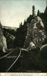 Sixteen Mile Canyon, Along the Pacific Coast Extension of the Chicago, Milwaukee & St. Paul Railway