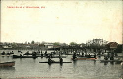 Fishing Scene at Winneconne Postcard