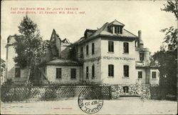 St. Johns Institute for Deaf Mutes - East and North Wing Postcard