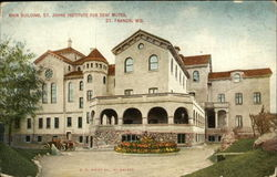 Main Building, St. Johns Institute for Deaf Mutes Postcard
