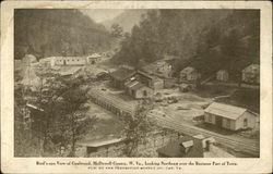 Bird's-eye View of Town, McDowell County, W. Va., Looking Northeast over the Business Part of Town