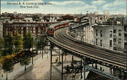 Elevated R. R. Curve at 110th Street