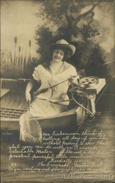The Evinrude Motor Girl Advertising