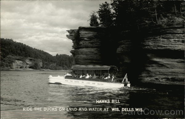 Hawks Bill - Ride the ducks on land and water at Wis. Dells Wis Wisconsin Dells