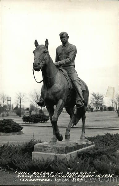 Will Rogers on Soapsuds Riding into the Sunset August 15, 1935 Claremore Oklahoma