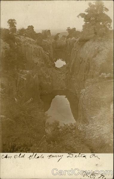 Old Slate Quarry Delta Pennsylvania