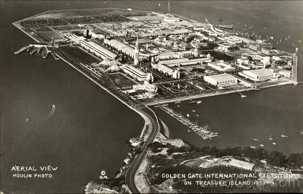 Aerial View, Golden Gate International Exposition on Treasure Island, 1939