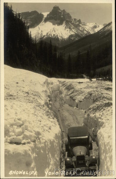 Snowslide - Yoho Road Field Canada British Columbia