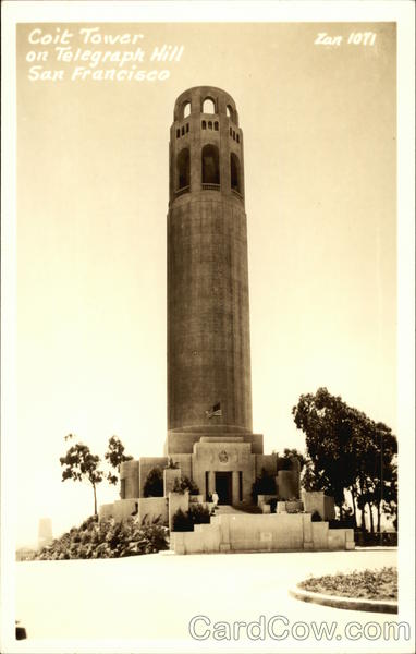 Coit Tower on Telegraph Hill San Francisco California