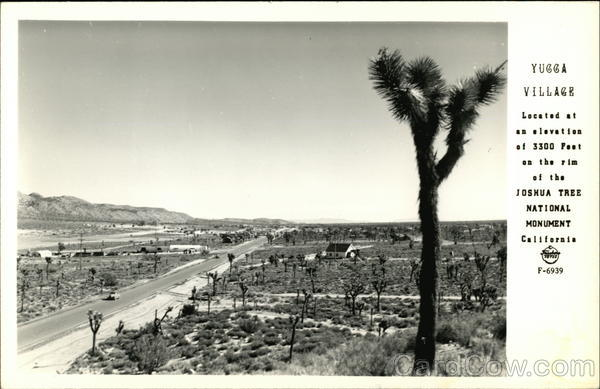Yucca village located at an elevation of 3300 Feet on the rim of the Joshua Tree National Monument Yucca Valley