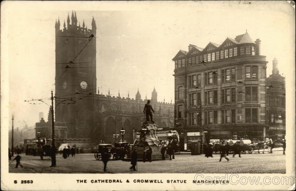 The Cathedral & Cromwell Statue Manchester England