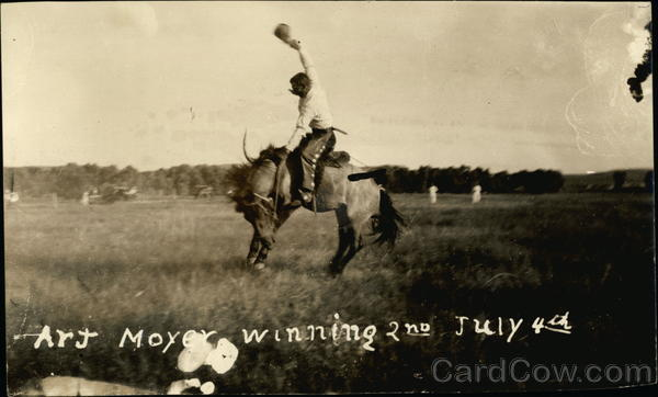 Art Moyer Winning 2nd July 4th Rodeos