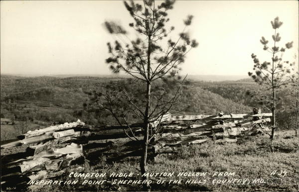 Compton Ridge - Mutton Hollow - From Inspiration Point - Shepherd of the Hills Country Missouri