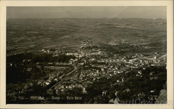 General View of Town Sintra Portugal Spain, Portugal