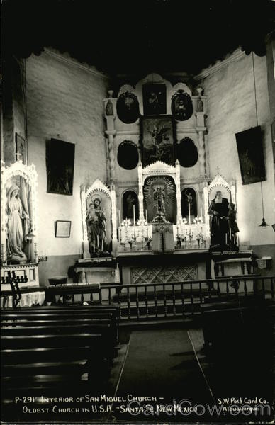 Interior of San Miguel Church, Oldest Church in U.S.A Santa Fe New Mexico
