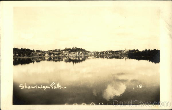 View of City and Saint-Maurice River Shawinigan Canada