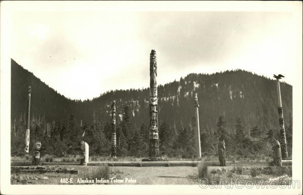 Alaskan Indian Totem Poles Native Americana