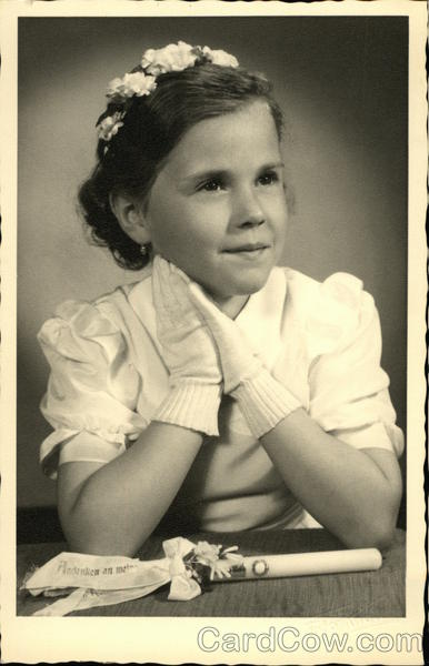 Portrait of Young Girl Wearing Gloves Girls