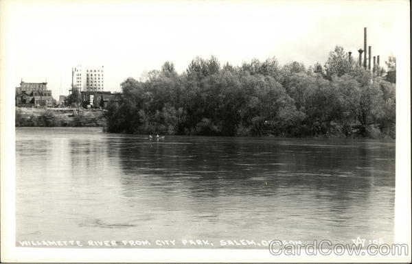 Willamette River from City Park Salem Oregon