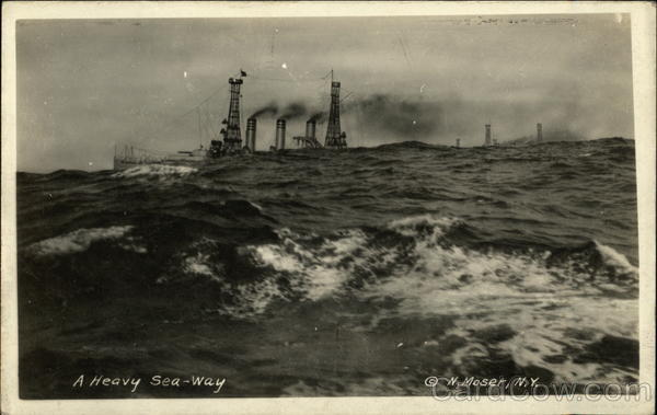 A Heavy Sea-Way, U.S.S. Vermont Steamers