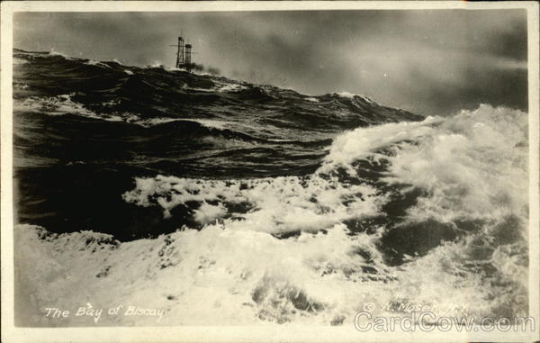 Ships Stacks Showing Over Rough Waters in The Bay of Biscay France