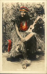 Hawaiian Hula Girl, Tinted