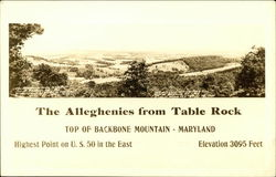 The Alleghenies from Table Rock, Top of Backbone Mountain