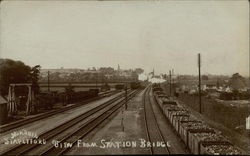 View From Station Bridge Postcard