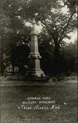 Bowman Park Soldiers Monument