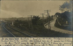 Railroad Tracks, Roadway and Powerlines