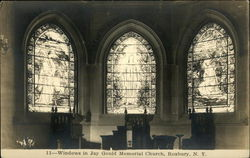 Windows in Jay Gould Memorial Church