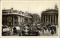 The Royal Exchange & Bank Postcard