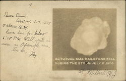 Hail from the July 1906 Storm