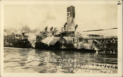 "Explosion of the ""Gulf of Venezuela"" Postcard"