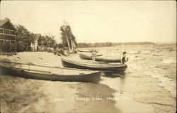 Shore of Sebago Lake Postcard