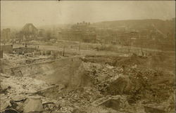 Remains of the Chelsea fire of April 12, 1908