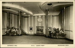 R.M.S. Queen Mary - Entrance Hall, Promenade Deck