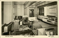 Writing Room, R.M.S. Queen Mary, First Class