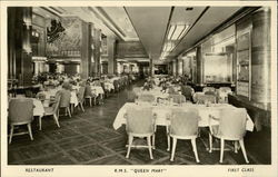R.M.S. Queen Mary - Restaurant, First Class