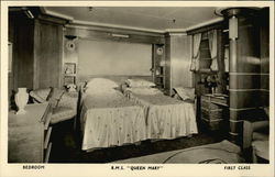 Bedroom, R.M.S. Queen Mary, First Class