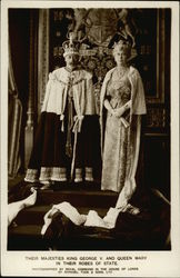 Their Majesties King George V. and Queen Mary in Their Robes of State