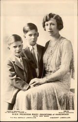 H.R.H. Princess Mary, Countess of Harewood with her Sons