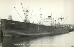 "Italian S.S. ""Vulcano"" at Searsport, Maine"
