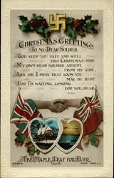 Christmas Greetings - To My Dear Soldier - Embossed Swastika