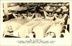 Boys in Hammocks U.S. Naval Training Station