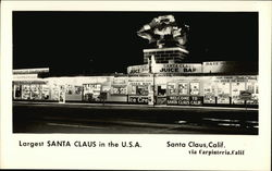 Largest Santa Claus in the USA Postcard