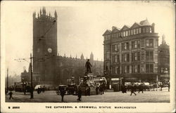 The Cathedral & Cromwell Statue Postcard